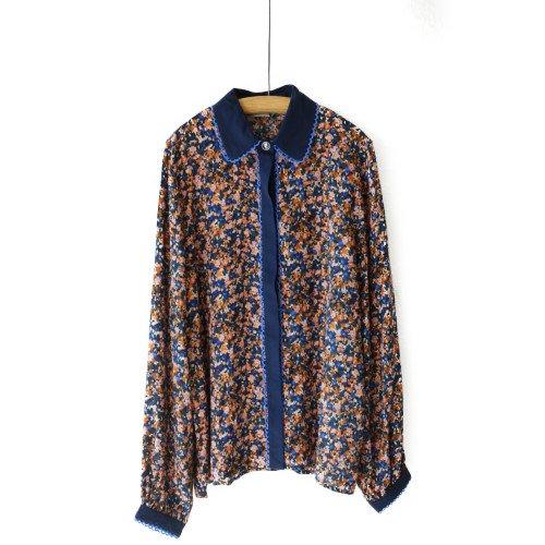 NUMPH ニンフ<br>フラワープリントシャツ<br>デンマーク/メール便対応可能