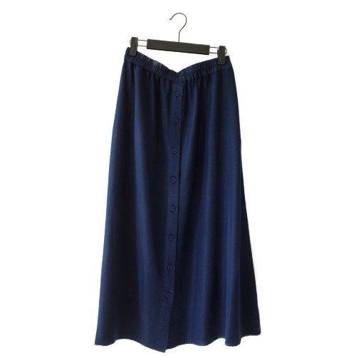 再値下げ★【MORE SALE】NUMPH ニンフ<br>釦デザインロングスカート<br>デンマーク/メール便対応可能
