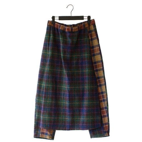 STOF ストフ<br>Mix Check Skirt Pants  変形パンツ<br>送料無料/日本
