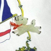 チェコ デッドストック ピン ブローチ 光る犬