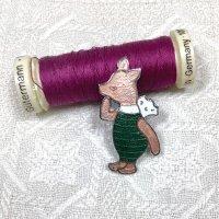 イギリス ヴィンテージ ピン ブローチ ピグレット Piglet