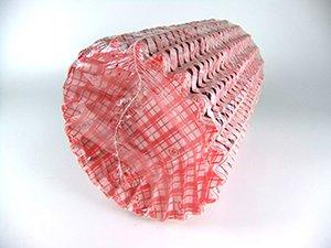 フードケースペーパーラミ格子赤 6F(500枚)