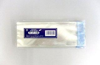 オーピーパック T-7-18 (横70mm x 縦180mm) テープ付き透明袋 食品OK(100枚入)