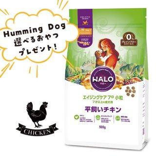選べるおやつ付き【HALO ハロー・犬用フード】エイジングケア7+ 小粒 平飼いチキン【900g】
