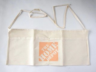 ★USA PRODUCT★Home Depot 2-Pocket Canvas Work Apron / Natural