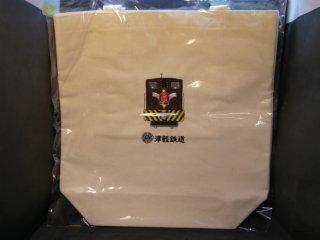 機関車刺繍トートバック白色(大)