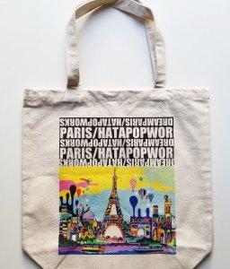"""厚手コットンバッグ""""DREAM PARIS"""" Mサイズ"""