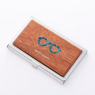 カードケース/マホガニー ブルー