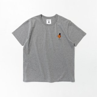 TACOMA FUJI WEE WEE embroidery Tee designed by Jerry UKAI HEATHER GRAY