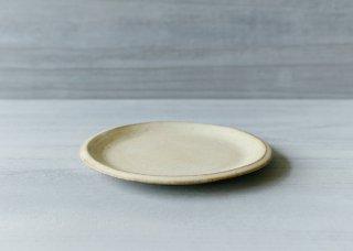 ニュアンス白の平皿 白