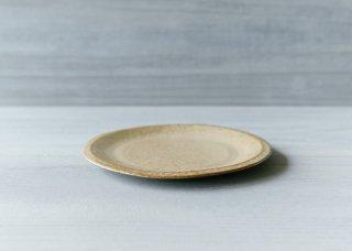 ニュアンス白の平皿 ベージュ
