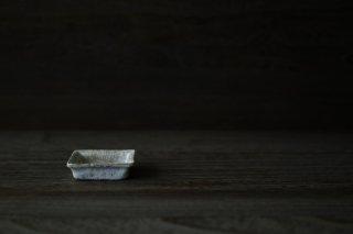 銀彩 四方豆皿
