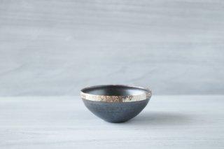 伊豆土 リム5寸鉢 (黒)