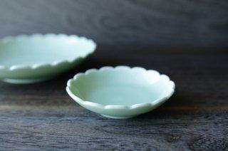 ねぎ青磁 菊小皿