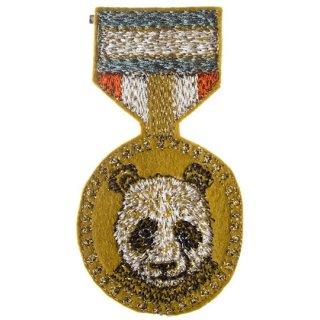 Coral&Tusk / panda medal ブローチ