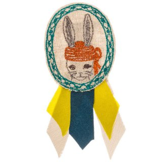 Coral&Tusk / bunny cameo pin ブローチ