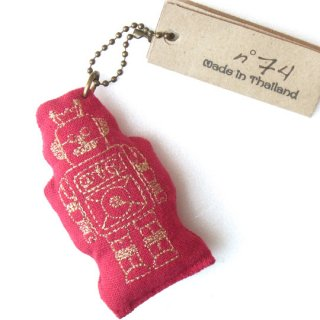Numero74 / Robot Key Chain / red