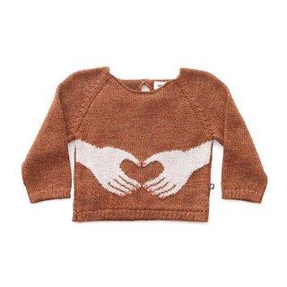 【50%OFF!】Oeuf NYC / HEART HANDS SWEATER-HAZELNUT/MULTI