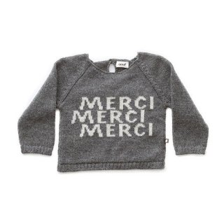 【50%OFF!】Oeuf NYC / MERCI SWEATER-DARK GREY/WHITE