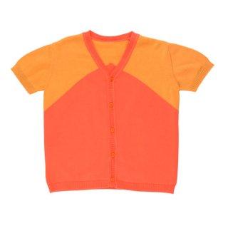 【50%OFF!】tinycottons / v-neck SS knit cardigan / carmin/brick/ SS18-264