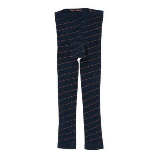 【50%OFF!】tinycottons / diagonal stripes leggings / navy/red