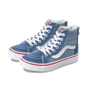 Vans SK8-Hi Zip / (Denim 2-Tone) blue/true white / kids