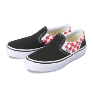 Vans CLASSIC SLIP-ON / (Checkerboard) black/red /  kids