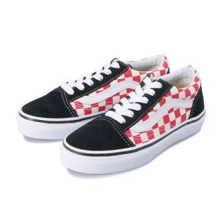 Vans Old Skool / (Checkerboard) black/red / kids