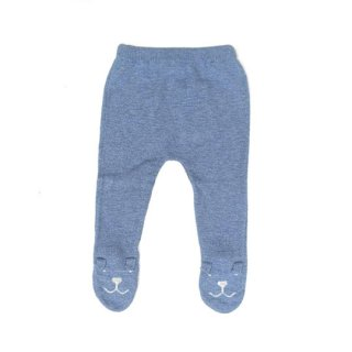 【50%OFF!】tocoto vintage [トコトヴィンテージ] / W12618. KNITTED BEAR LEGGINS / 003. BLUE