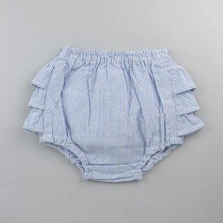 mimi poupons [ミミプポン] / フリルパンツ / ブルーストライプ