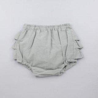 mimi poupons [ミミプポン] / フリルパンツ / ソフトローンGREY