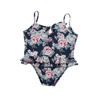 【50%OFF!】tocoto vintage / Flowers ruffled swimsuit / FLOWERS