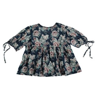 【50%OFF!】tocoto vintage / Flowers blouse with low neclike back / FLOWERS