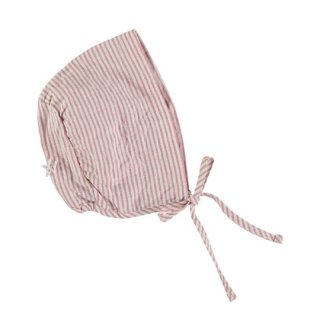 【50%OFF!】tocoto vintage / Striped  bonnet / PINK