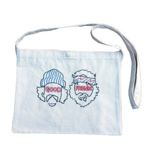 Soulsmania / EMBROIDERED SACOSH BAG /GOOD FRIENDS