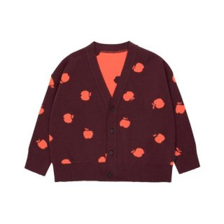 【50%OFF!】TINYCOTTONS / APPLES CARDIGAN / aubergine/red