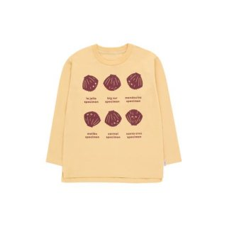 【50%OFF!】TINYCOTTONS / SHELLS LS TEE / sand/aubergine