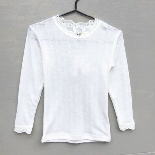 Joha / Blouse w/l.sleeve Silk Lace / white