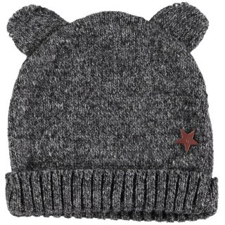 【40%OFF!】tocoto vintage / Bear knit hat / DARK GREY