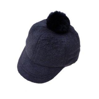chocolatesoup / FLEECE POMPOM CAP / BLACK