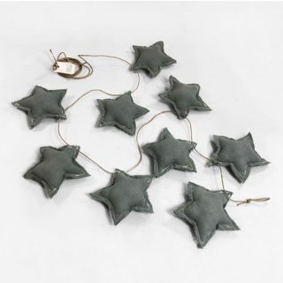 Baby shower / STARS BANDEROLE  / GREY POWDER