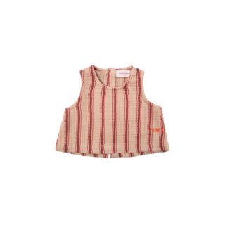 """【40%OFF!】TINYCOTTONS / """"RETRO STRIPES"""" BABY TOP / light nude/dark brown / Baby"""