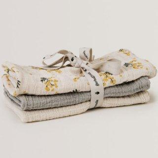 【再入荷】garbo&friends / Mimosa Burp Cloths  3set
