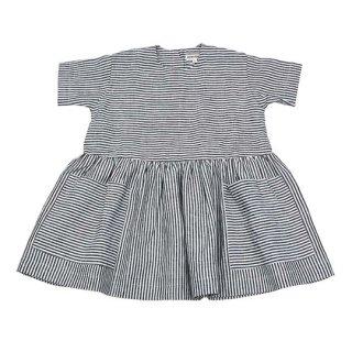 AS WE GROW / POCKET DRESS / Grey Stripe