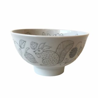 松尾ミユキ / Ceramic Bowl / Squirrel / gray