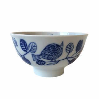 松尾ミユキ / Ceramic Bowl /  bird planets / blue