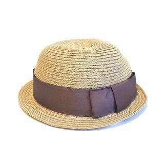chocolatesoup / PAPER BRAID BOWLER HAT / GRAY BEIGE
