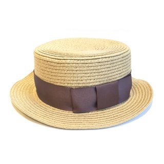 chocolatesoup / PAPER BRAID KANKAN HAT / G.BEIGE