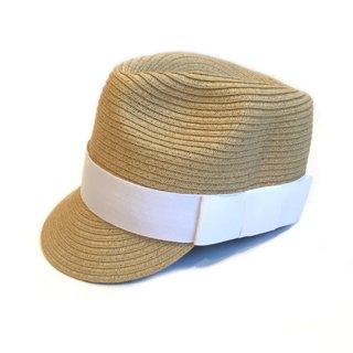 chocolatesoup / PAPER BRAID JOCKEY HAT / WHITE
