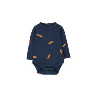 "【30%OFF!】TINYCOTTONS / ""PEANUTS"" BODY / light navy/deep yellow / Baby"